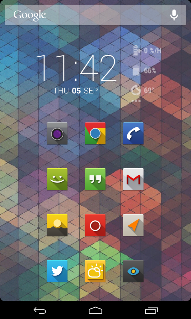 All screenshots are using Purity ROM with NOVA paid and various iconsets.