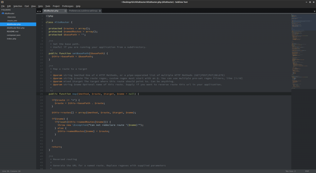 Flatland and Flatland-Alt, Two Flat Sublime Text Themes