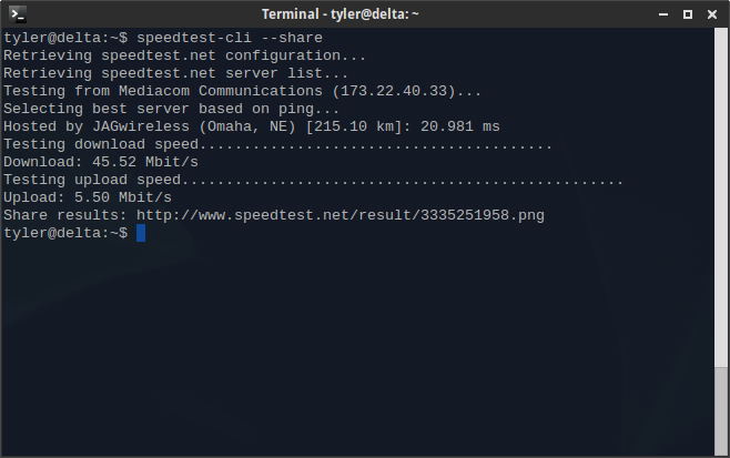 Record speedtest results from the command line tyler longren record speedtest results from the command line stopboris Images