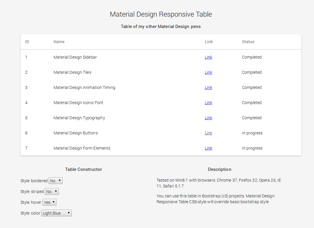 Material design responsive table tyler longren for Material design table